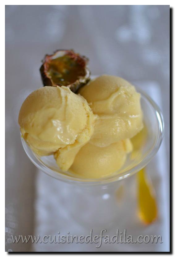 Sorbet au fruit de la passion